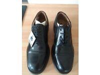 Mens Size 8 Black Leather Shoes
