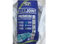 Bag of Anthracite color Ultra tile Flexjoint Premium floor & wall grout
