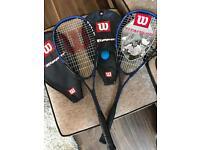 2x squash rackets