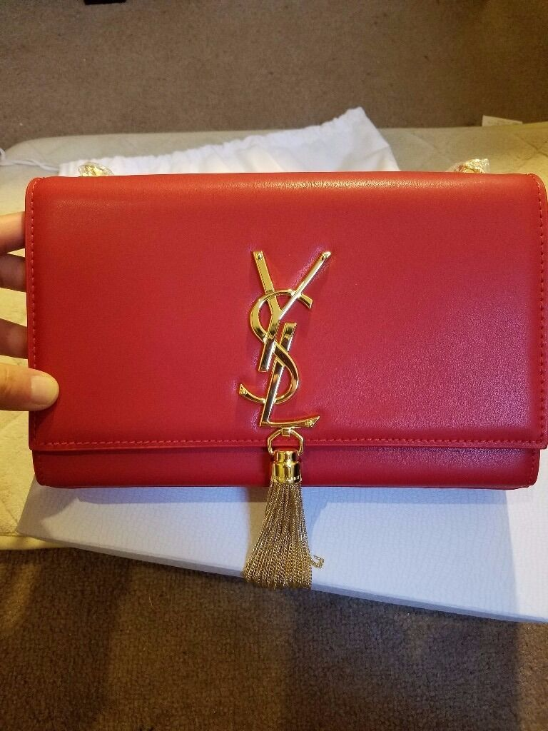 New LADIES' PURE LEATHER chain SHOULDER BAG