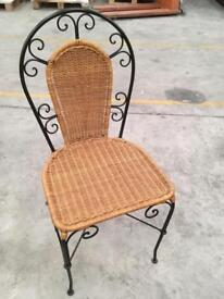 Metal and wicker chair in perfect condition