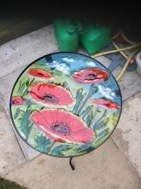 Lovely poppy garden table
