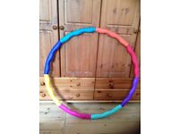 PowerHoop weighted multi-coloured hula-hoop