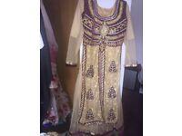 Maroon & Gold Dress
