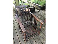 Antique oak chair - Reclaimed, folding