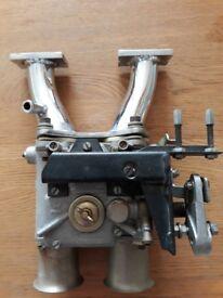 Weber 48 dcoe carburetor+linkage and manifold for a series engine