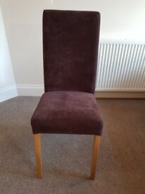 4 x Chocolate Brown Dining Chairs