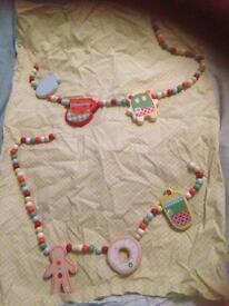 Mamas and papas gingerbread range curtain ties