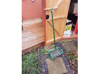 Solid Metal Lawn Spiker (Free Delivery)
