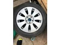 audi alloy weel bro day new tyre never been used