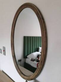 Brown Wooden Oval Mirror BRAND NEW