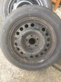 195/60/15 Steel Wheel and nearly new tyre only £15
