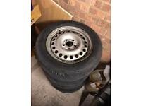 Ford transit connect steel wheels with good tyres 195/60/15