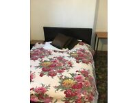 New condition leather double bed for sale