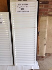 CENTRAL HEATING RADIATOR CENTERRAD Single Convector 600 mm high x 1600 mm long.