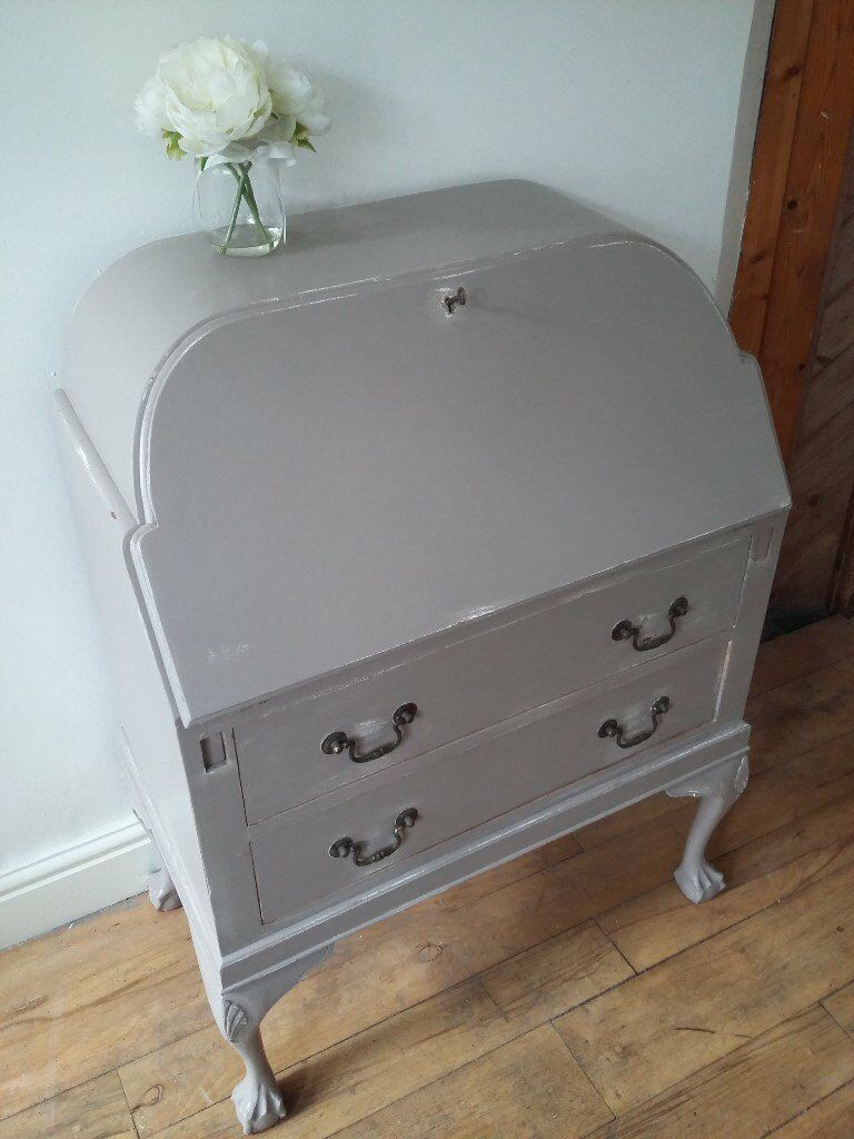 Shabby Chic Furniturein Whitland, CarmarthenshireGumtree - Three pieces of shabby chic furniture all painted in Farrow and Ball, Charleston Grey, Estate Eggshell paint. Selling furniture due to moving house. Bureau, kitchen dresser and display cabinet. Happy to split items and sell furniture individually....