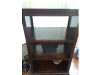 Bookcase (can be used as display cabinet, shelving, storage, hi-fi unit). Quality Solid Wood item.