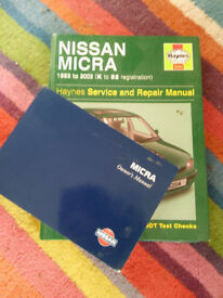 Haynes manual Nissan Micra 93 to 2002.