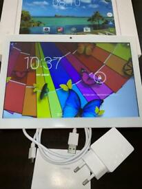 """White Android 10.1"""" tablet Teeno brand Excellent condition"""
