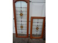Kitchen doors with stained glass inserts