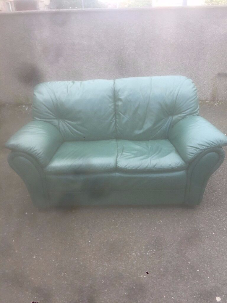 2 TWO SEATER LEATHER SOFA`S FOR SALE