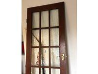 Interior wooden/glass door