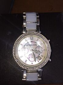 Michale Kors watch- mother of pearl clock face good condition