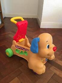 Fisher price Baby walker/ sit on dog