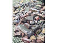 Free rubble. Bricks, concrete bits & hardcore.