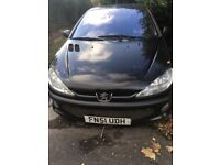 Peugeot 207 cc black convertible. 2001, great condition.