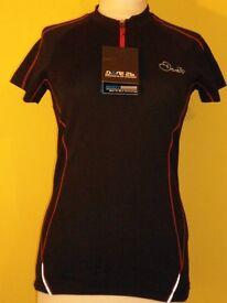LADIES: Dare2b Womens Revel Black & Red T-Shirt (Size 10)