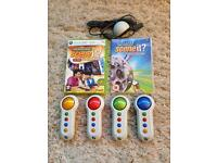Scene It 4 controllers and 2 games for Xbox 360
