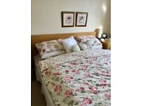 Double bed, bed, wooden bed, oak double bed, oak, oak bed
