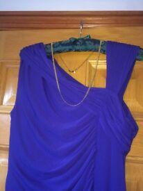 Coast Electric Blue Evening Dress - Roman style flattering draped shape