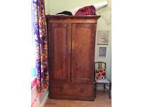 Walnut burr antique wardrobe