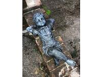 Lazy boy garden ornament