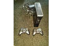 Xbox 360 black console, 2 wireless pads, 9 games, hdmi lead, mint condition