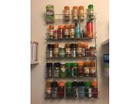 Spice rack in chrome