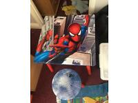 *Sold subject to collection* Kids Spider man table and 2 Chairs