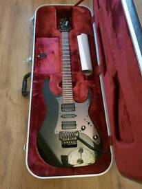 Ibanez RG 1570 Prestige Electric guitar made by team J Craft in Japan with hard case.
