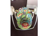 Portable baby swing