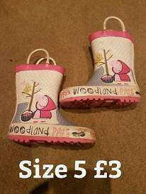 Peppa Pig wellies from Mothercare size 5