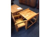 Childrens solid pine drawing table - CHARITY
