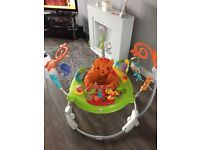 Baby swing £35, jumperoo £35, baby seat doughnut £15