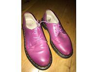 Purple doc martens size 4