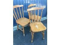 Pine kitchen chairs x3