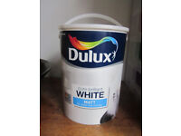 Dulux brilliant white matt emulsion 5L uphill Lincoln