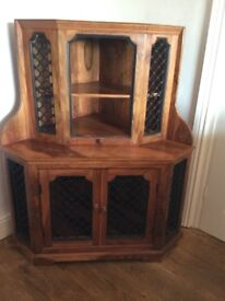 Hardwood corner cabinet