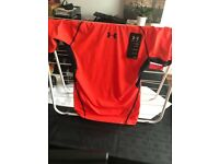 3 x Under Armour Compression Heat Gear tops