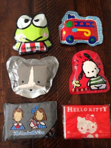 Sanrio & Cartoon Characters Vintage Tissue packs Unopened 15 Packs